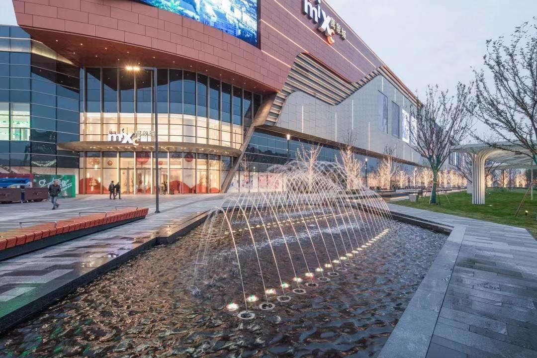 中心商业区喷泉水景