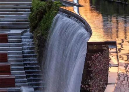 休闲区喷泉水景