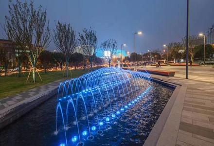 街边广场喷泉水景