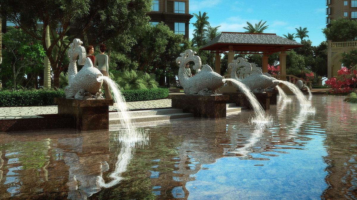 喷泉水景怎么做维护?
