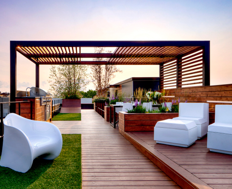 别墅屋顶花园