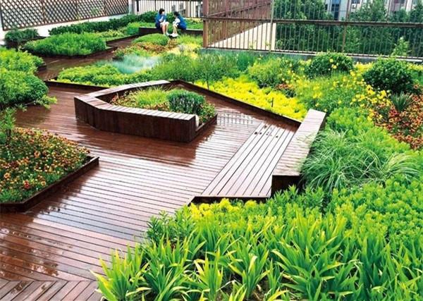 屋顶绿化对于城市涝灾的积极意义
