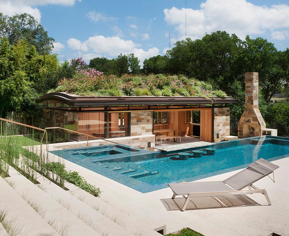 别墅屋顶景观绿化