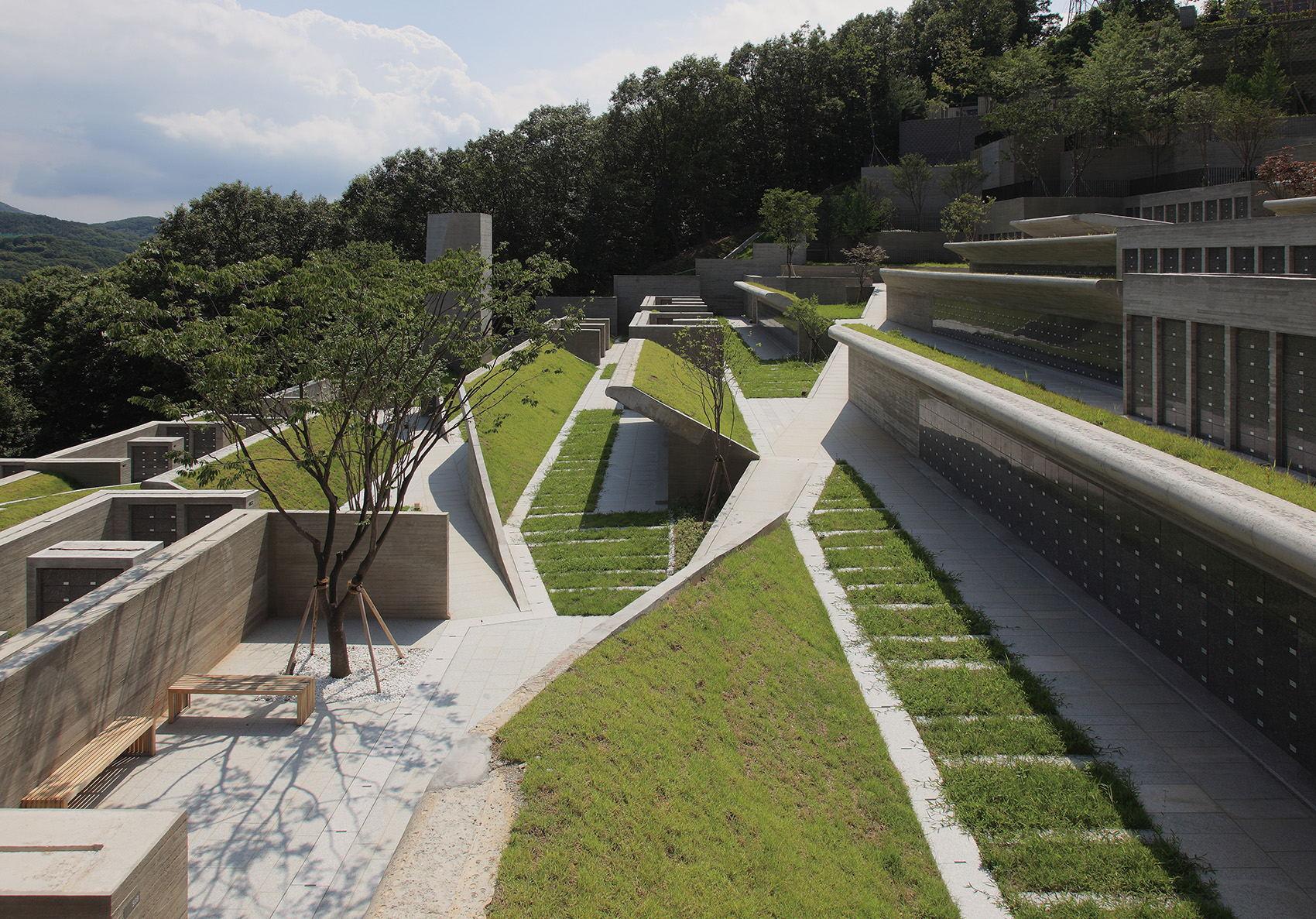 公园屋顶草坪打造