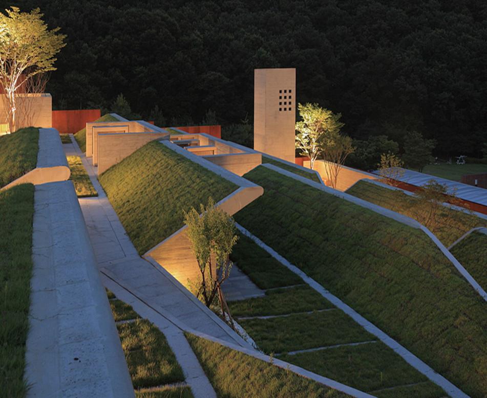 夜晚下的草坪屋顶能有多美?
