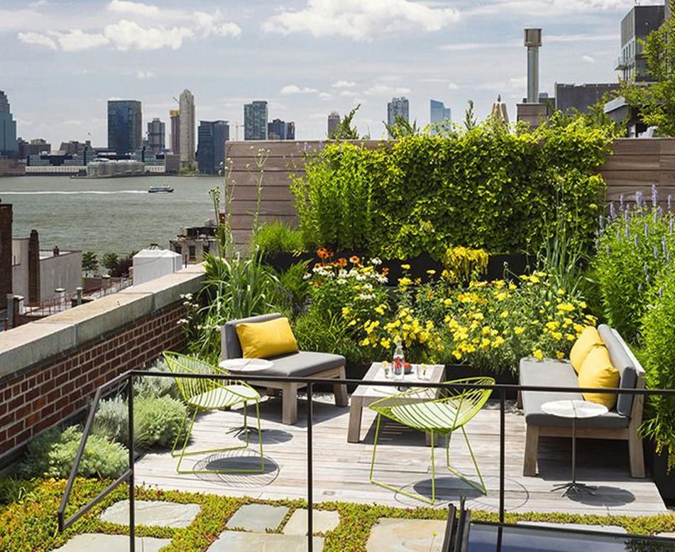 别墅组合式屋顶绿化