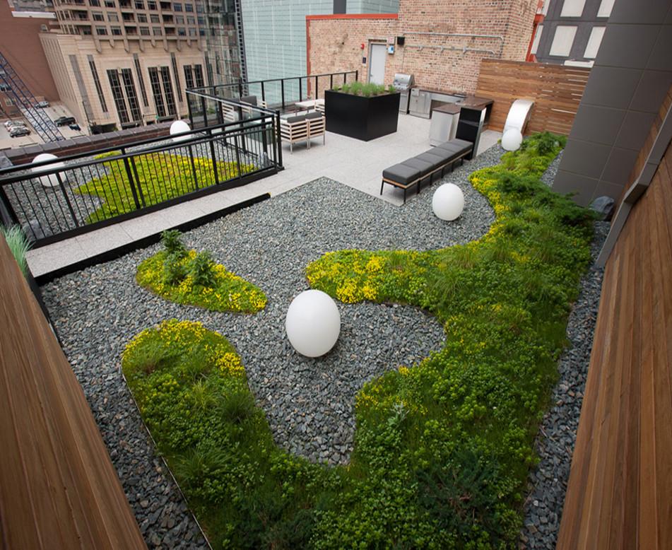 私人别墅屋顶绿化施工
