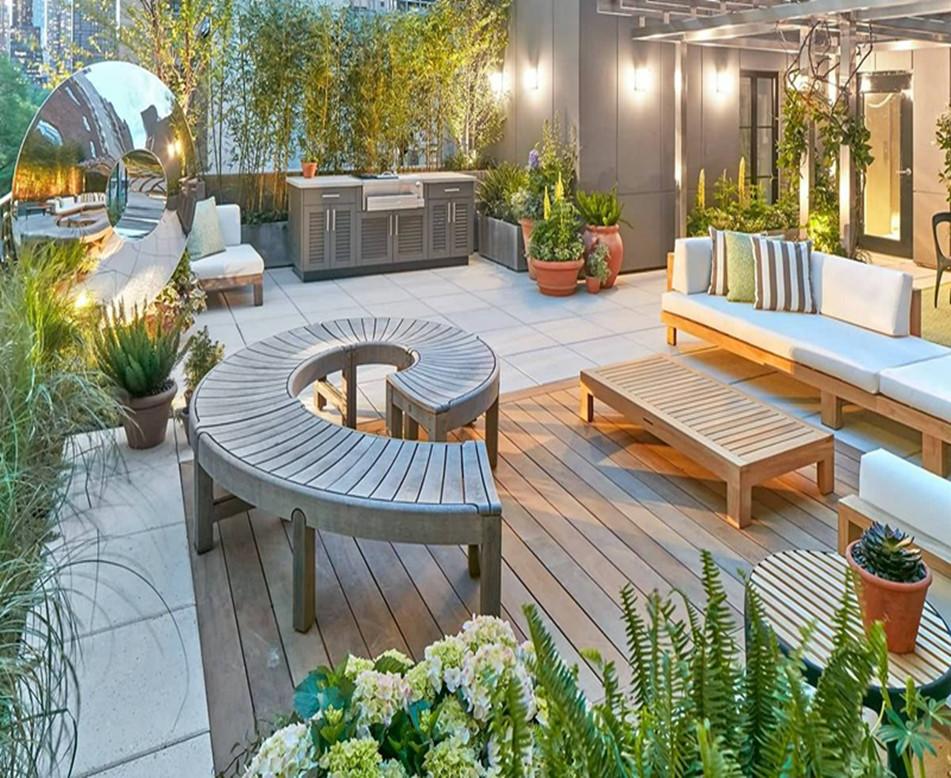 組合式屋頂綠化景觀施工