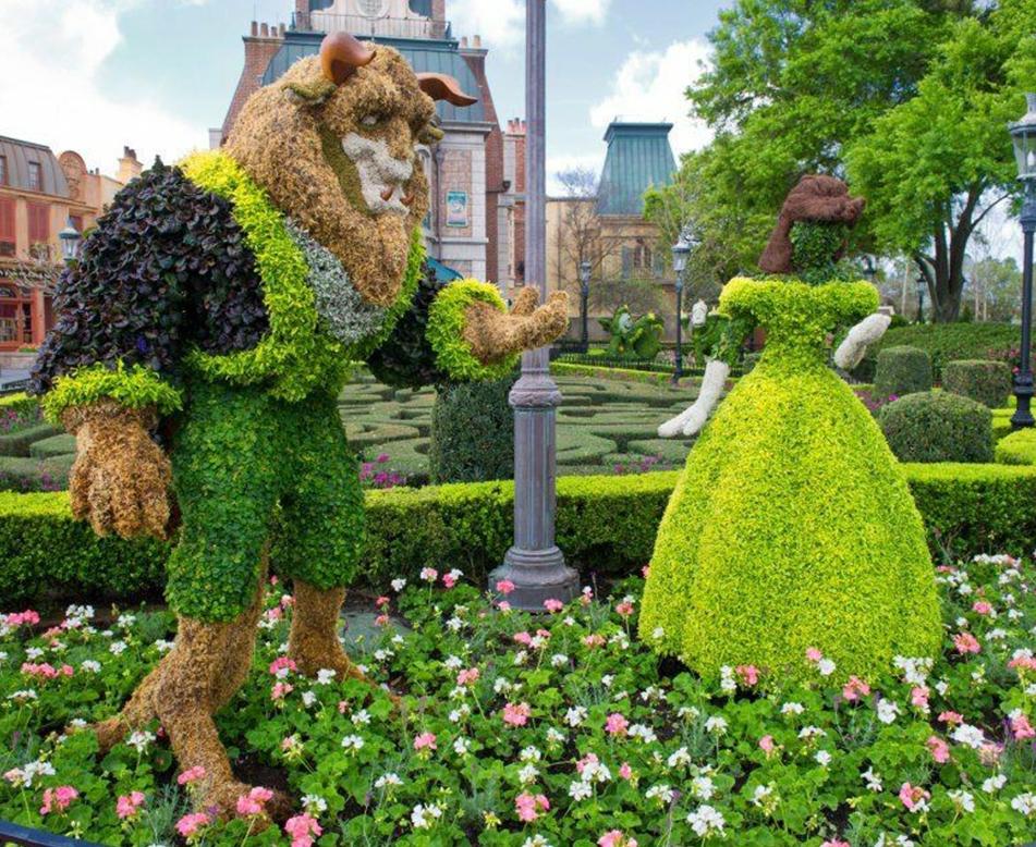 迪士尼绿雕景观