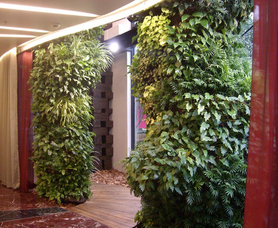 门柱植物墙