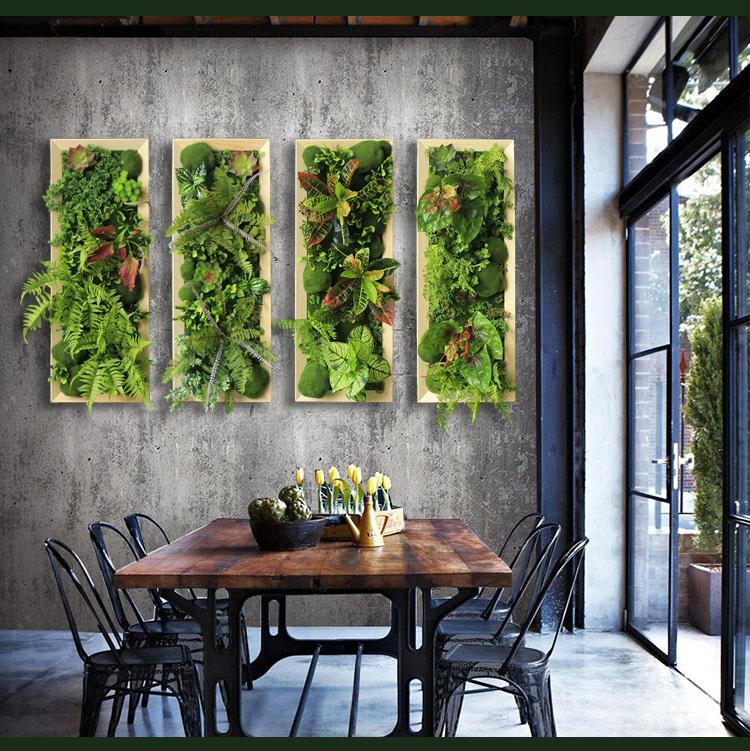 会客厅仿真植物墙