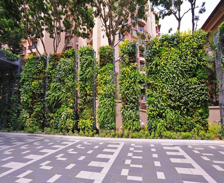 别墅区植物墙设计