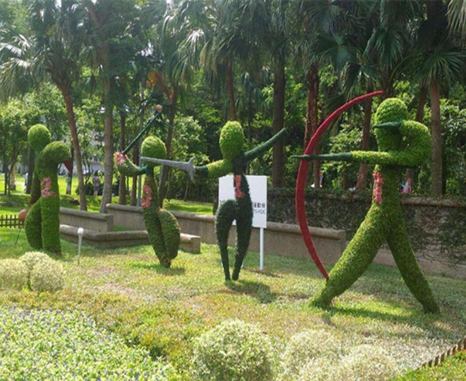 人物造型綠雕制作