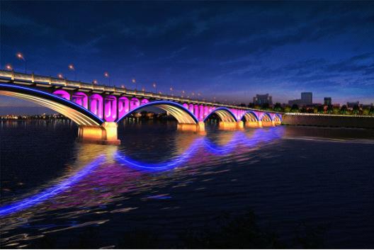 城市亮化(大桥1)
