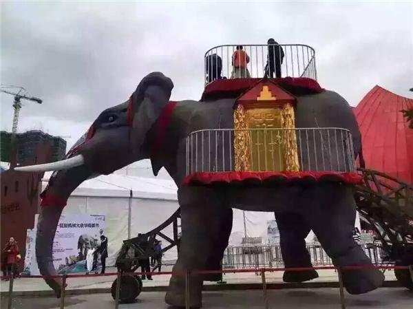 機械大象展覽道具出租