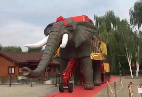 栩栩如生的機械大象道具租賃,感受不同的異域風采