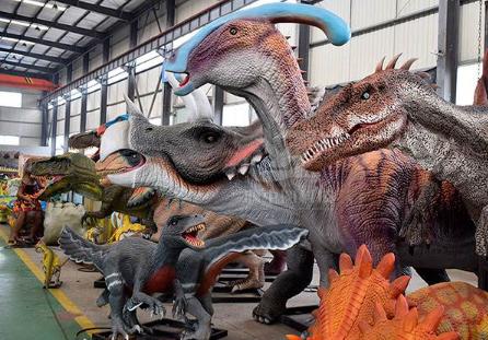 仿真恐龍展來襲,讓小孩子通過道具觸及到心中所想