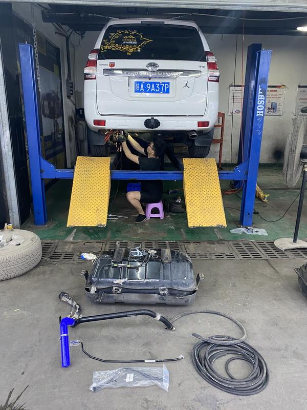 普拉多LC150副油箱安装案例