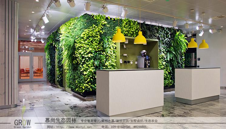 西安绿植墙设计