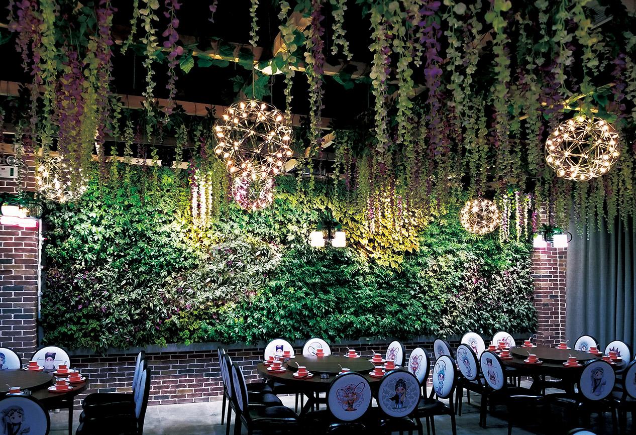 宝鸡餐厅植物墙