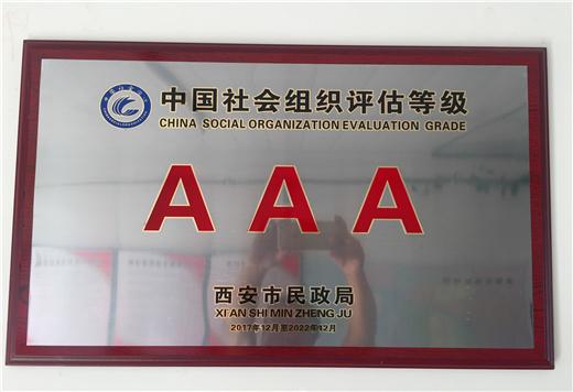 中国社会组织等级评估AAA级