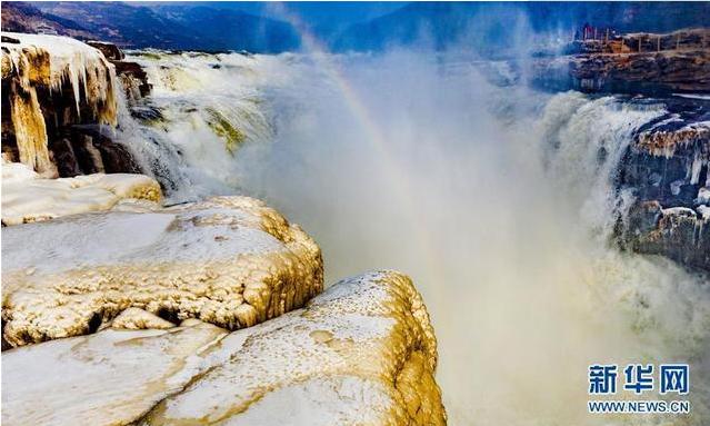 兰州电线电缆公司壮观!黄河壶口瀑布两岸形成冰瀑冰雕奇特景观