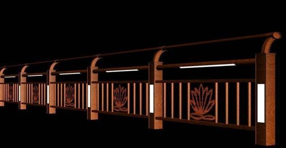 河道灯光护栏