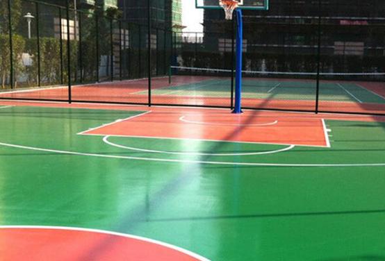 湖南科技大学篮球场地坪施工
