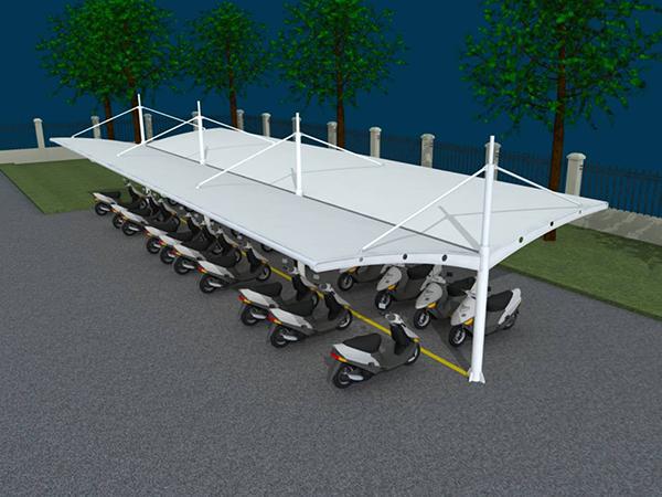 膜结构电动车棚