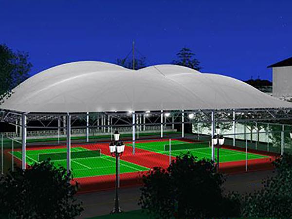 网球场膜结构