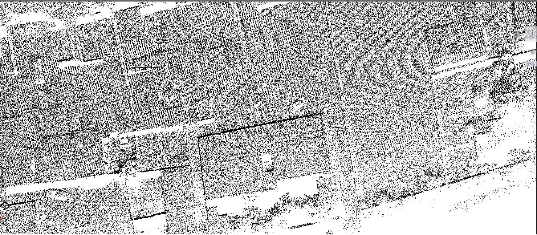 机载激光雷达系统在复杂地形测量中的应用,复杂地形测量中地形图制作中的地物绘制展示图,华测激光雷达系统应用于复杂地形测量中的案例分享