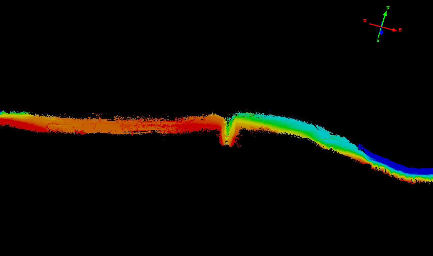 机载激光雷达系统在复杂地形测量中的应用,复杂地形测量的点云成果展示图,华测激光雷达系统应用于复杂地形测量中的案例分享