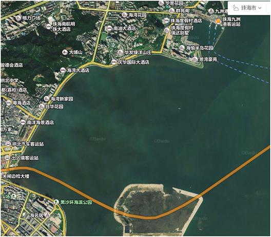 珠海港珠澳大桥内侧水下地形测量
