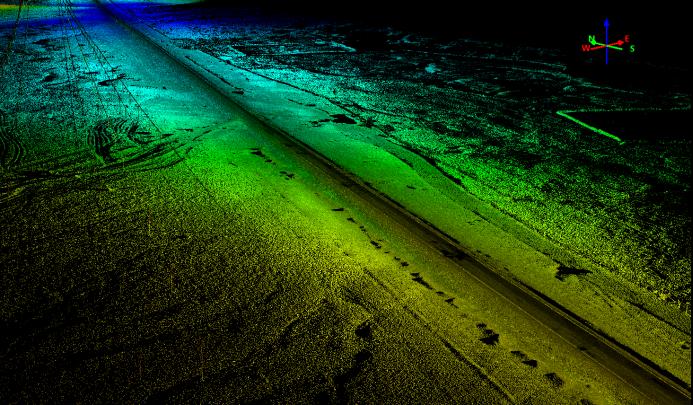激光雷达系统应用于公路勘测的点云成果展示图,华测公路勘测应用方案分享