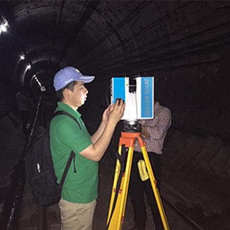 三维激光扫描仪在哈尔滨地铁隧道检测中的应用