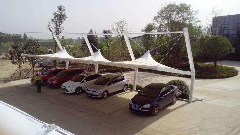 膜结构轿车车棚