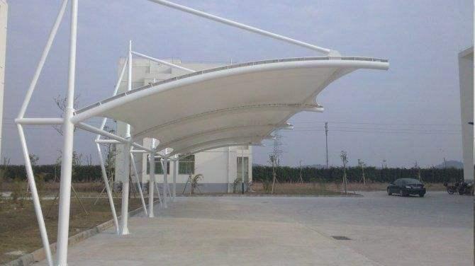 7字型膜結構雨棚