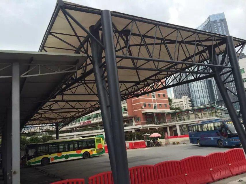東立汽車客運站膜結構建設