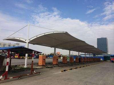 充電樁膜結構遮陽棚