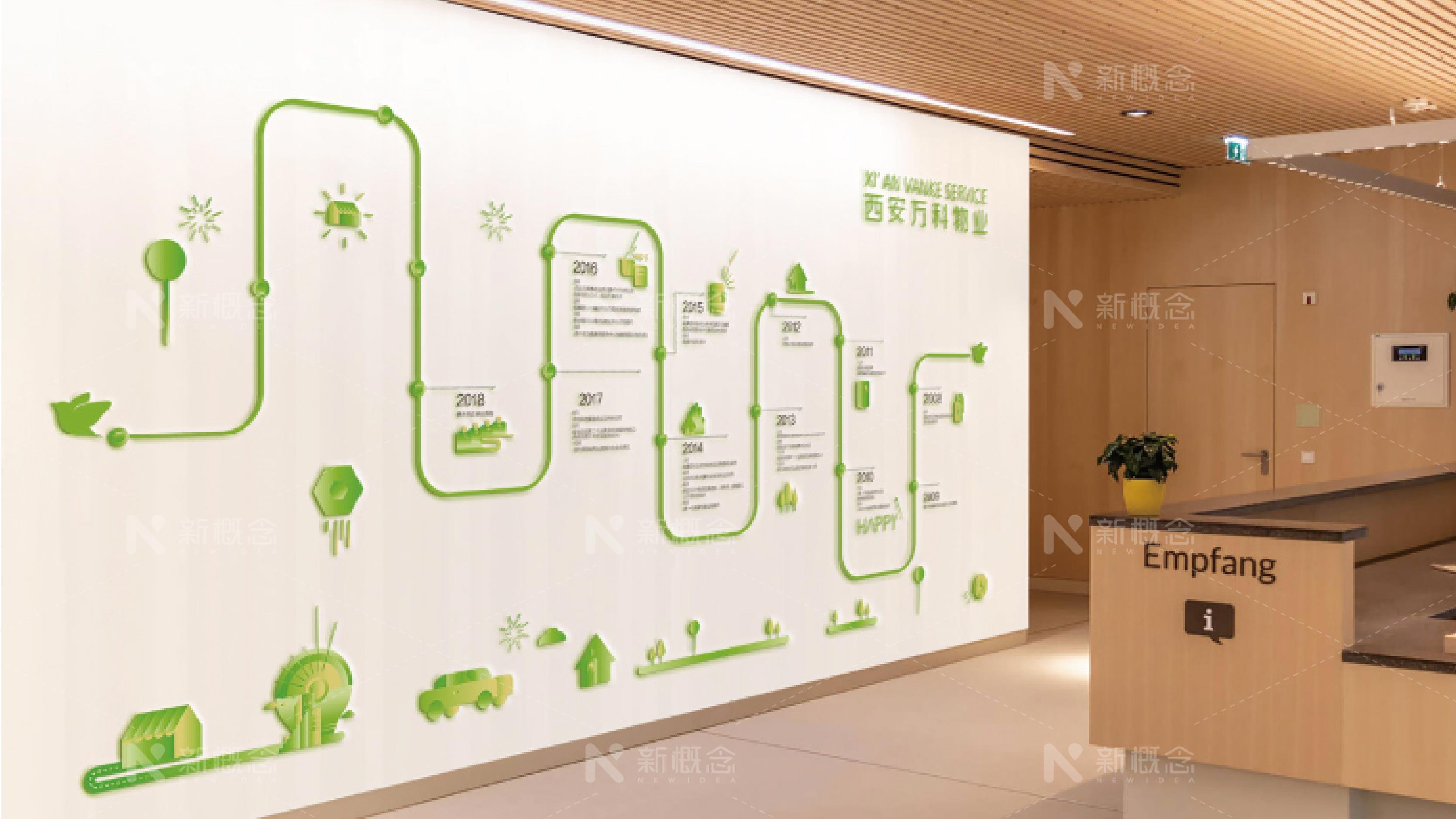 西安万科物业文化墙设计制作