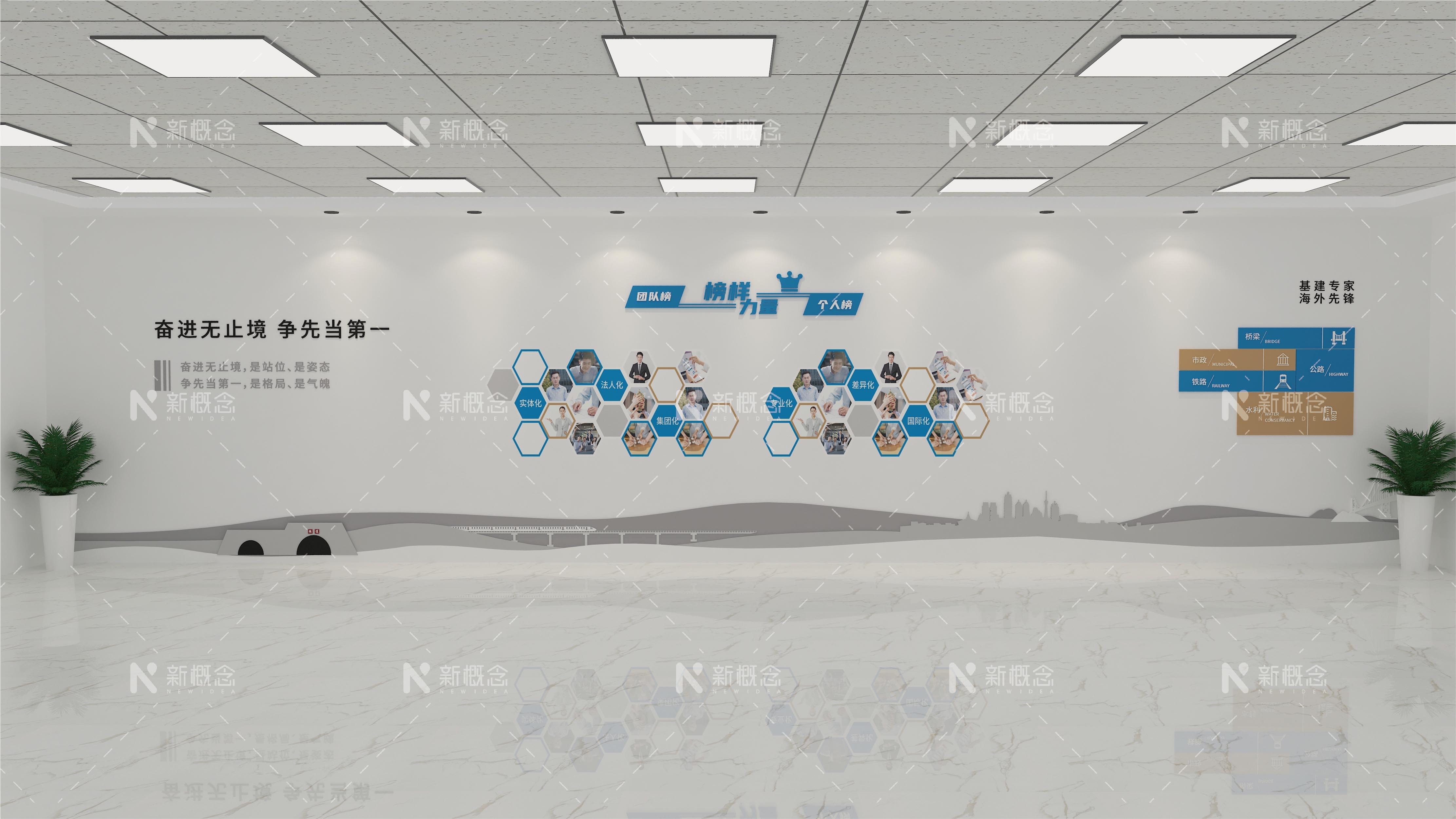 中建第七工程局文化墙设计