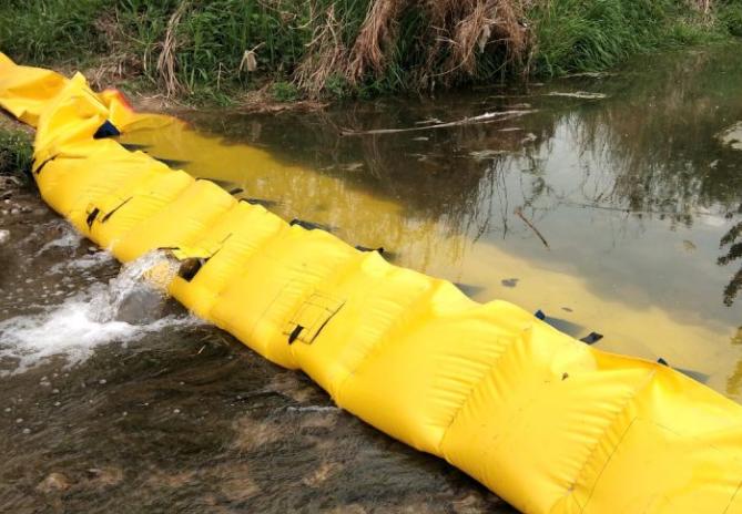 冲水式橡胶拦水坝安装前的检查