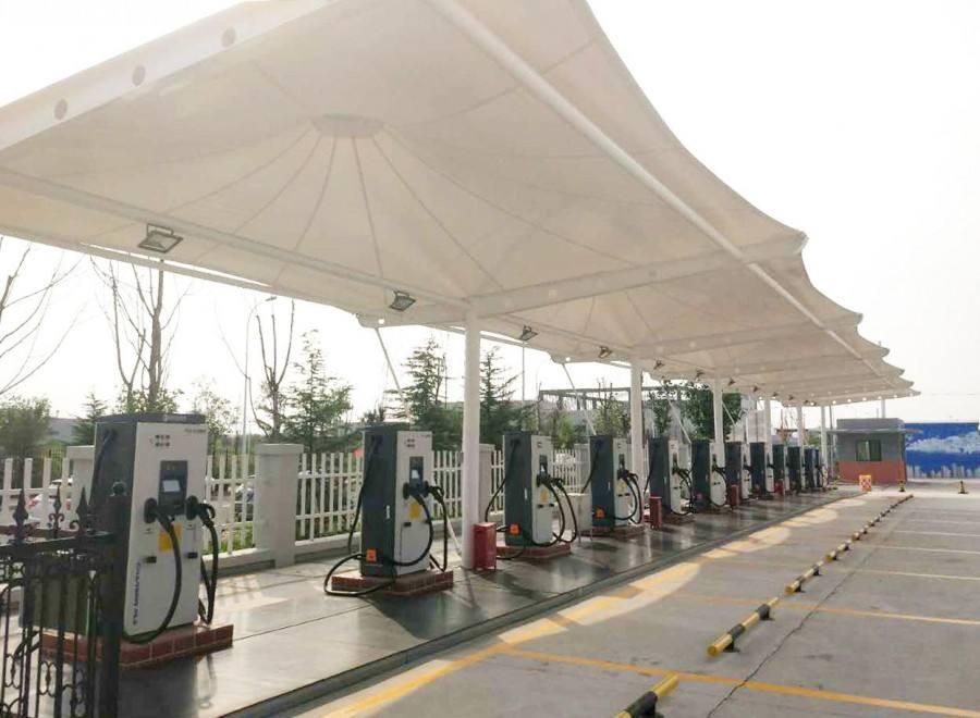 充电站膜结构停车棚