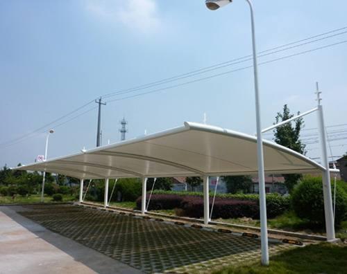 淄博/临沂膜结构车棚相较传统车棚更环保