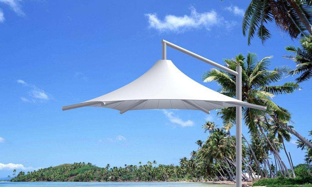 酒泉膜结构景观伞