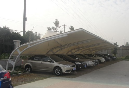 白银/武威膜结构车棚更富于强调性技术逻辑的表现特征