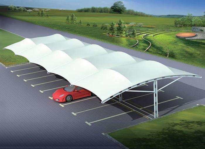 膜结构车棚实施膜结构的覆盖面积越大