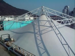 中山膜结构污水池