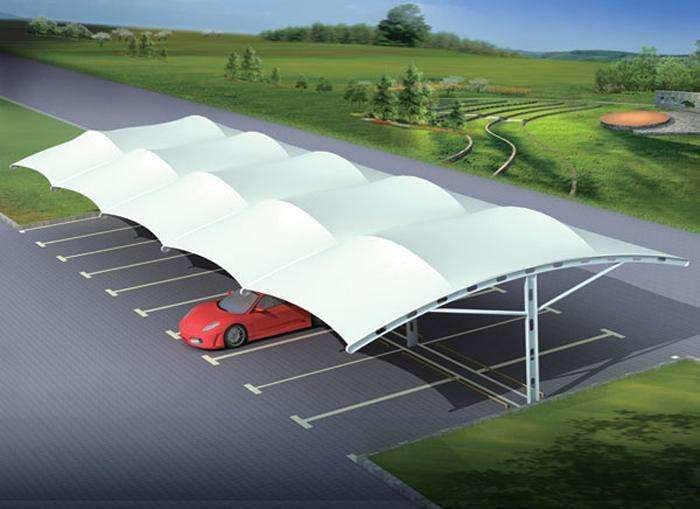 膜结构车棚和其他车棚的不同介绍