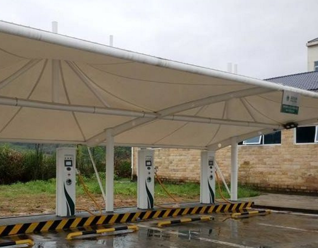 雨季膜结构充电桩施工的注意事项